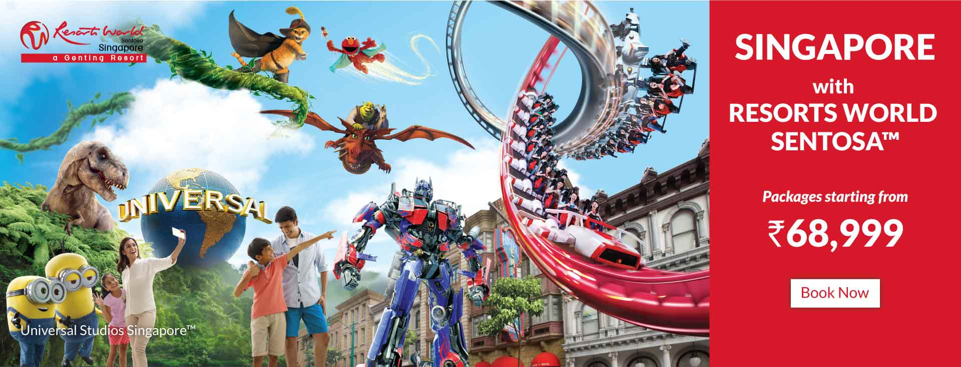 Singapore with  Resort Sentosa Package