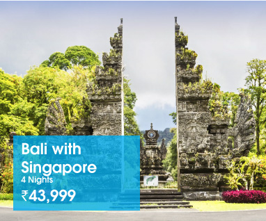 Bali with Singapore 4 Nights Rs.43999/-