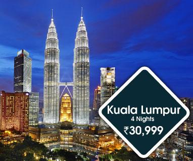 Kuala Lumpur 4 Nights Rs.30999